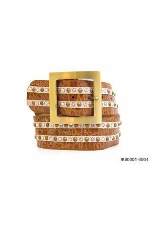 Ж60 ВВ Кулон G641/A821/A965 косой светло-коричневый Ж60001-0004