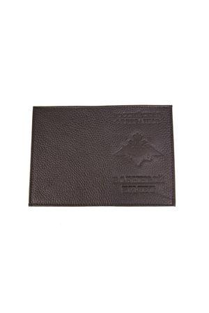 Обложка для военного билета черная шагрень