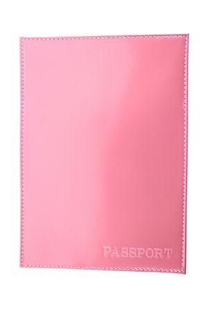 Обложка для паспорта HJ гладкая розовая