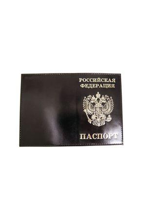 Обложка для паспорта HJ РФ черная