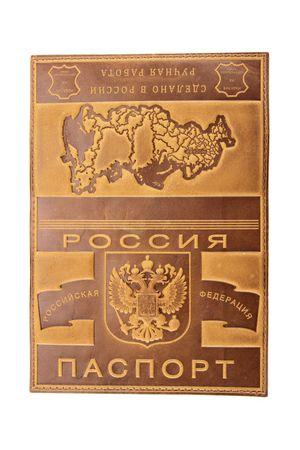 """Обложка для паспорта """"Карта"""" светло-коричневая"""
