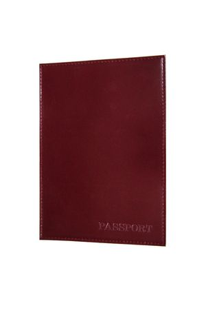 Обложка для паспорта HJ гладкая бордовая