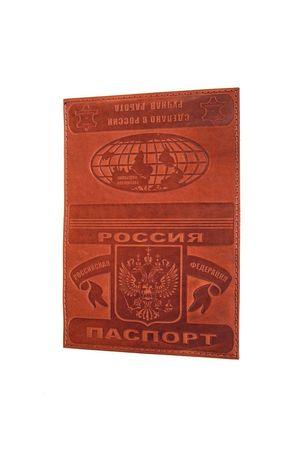 Обложка для паспорта обычная коричневая
