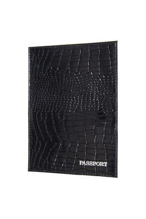Обложка для паспорта HJ рептилия черная
