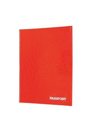 Обложка для паспорта HJ рептилия красная