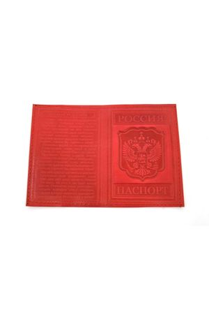 Обложка для паспорта с гимном красная
