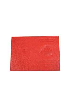Обложка для военного билета красная шагрень