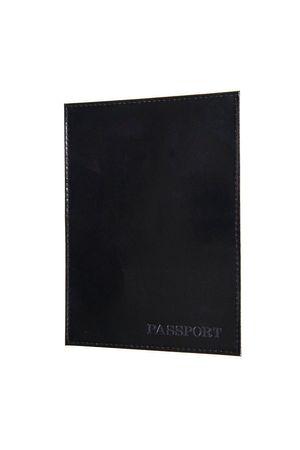 Обложка для паспорта HJ гладкая черная