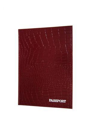 Обложка для паспорта HJ рептилия бордовая