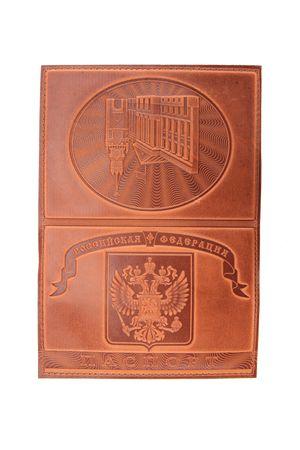 """Обложка для паспорта """"Кремль"""" светло-коричневая"""