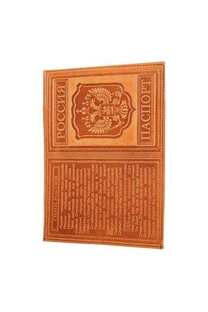 Обложка для паспорта с гимном коричневая
