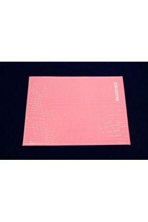 Обложка для паспорта HJ рептилия розовая