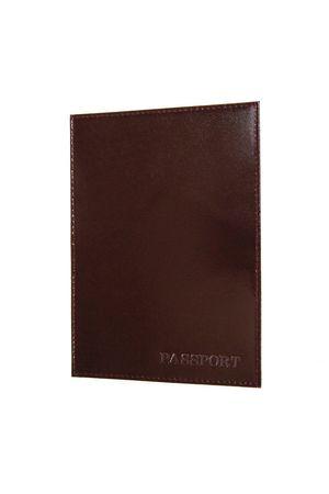 Обложка для паспорта HJ гладкая коричневая