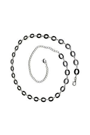 Ж20(99) ВВ цепь мет двуст овал бел чер/бел 320011-0002