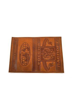 Обложка для паспорта обычная св. коричневая